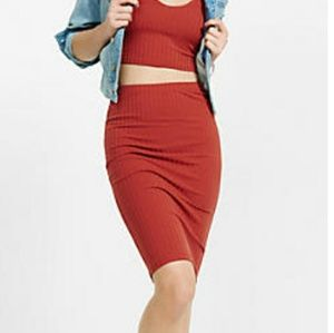 New One Eleven ribbed pencil skirt
